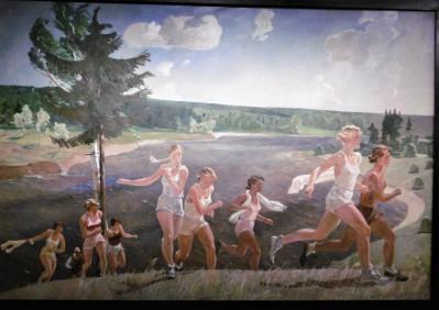 les coureuses à la joie rouge (expo Geand Palais )
